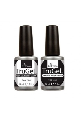EzFlow TruGel LED/UV Gel Polish - Base Coat & Top Coat - 0.5oz / 14ml