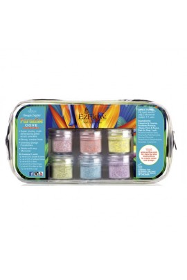 EzFlow Boogie Nights Collection Kit - Paradise Cove Glitter Acrylic Powders