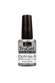EzFlow TruGel LED/UV Gel Polish - Optimize It! Brightening Base Coat - 0.5oz / 14ml