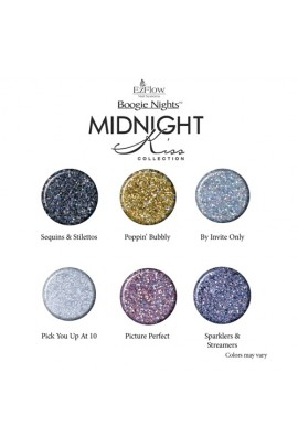 EzFlow Boogie Nights Collection Kit - Midnight Kiss Glitter Acrylic Powders
