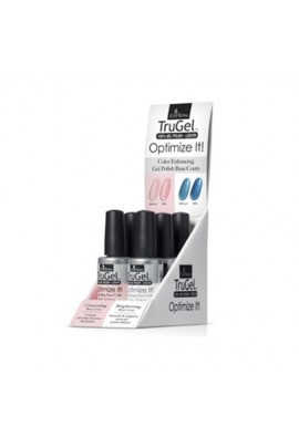 EzFlow TruGel LED/UV Gel Polish - Optimize It! Base Coat 6pc Display - 0.5oz / 14ml Each