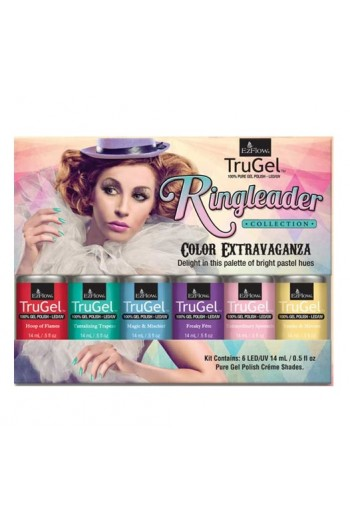 EzFlow TruGel LED/UV Gel Polish - Ringleader Collection - 6 Colors