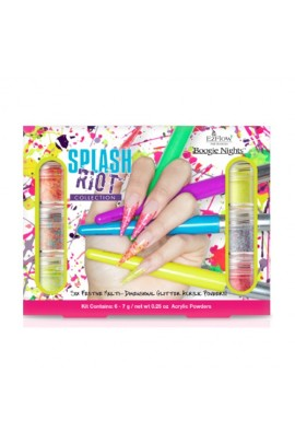 EzFlow Boogie Nights Collection Kit - Splash Riot Glitter Acrylic Powders