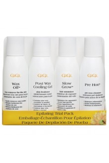 GiGi Epilating Lotion Trial Pack - 4 Bottles - 2oz / 59ml Each
