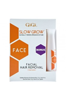 GiGi Slow Grow - Facial Hair Removal 0733 + Bonus Serum
