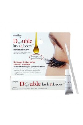 Godefroy - Double Lash & Brow - Eyelash & Eyebrow Serum - 0.1oz / 3ml