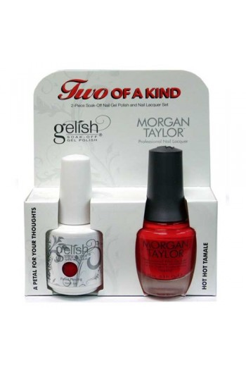 Nail Harmony Gelish & Morgan Taylor Nail Lacquer - Two Of A Kind Core Duo - A Petal for Your Thoughts & Hot Hot Tamale