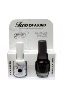 Nail Harmony Gelish & Morgan Taylor Nail Lacquer - Two Of A Kind Core Duo - Black Shadow & Little Black Dress