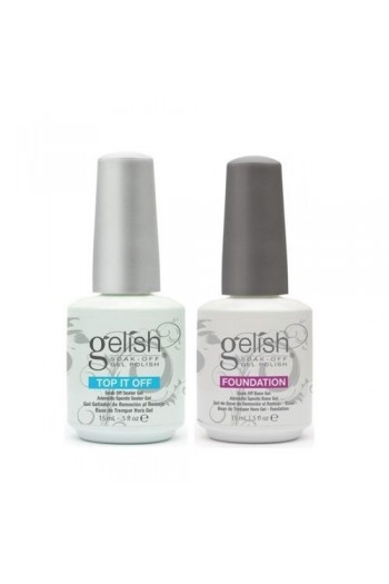 Nail Harmony Gelish - Foundation Base + One Top It Off Sealer - 0.5oz / 15ml Each
