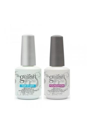 Nail Harmony Gelish - Foundation Base + One Top It Off Sealer - 0.5oz / 15ml Each