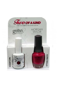 Nail Harmony Gelish & Morgan Taylor Nail Lacquer - Two Of A Kind Core Duo - Gossip Girl & Sitting Pretty