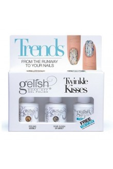 Nail Harmony Gelish - Haute Holiday Collection - Trends 3pc Kit - Free Top It Off!