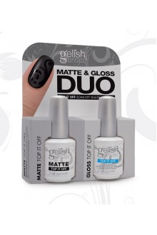 Nail Harmony Gelish - Matte & Gloss DUO - Matte Top It Off & Gloss Top It Off - 0.5oz / 15ml