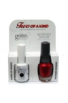 Nail Harmony Gelish & Morgan Taylor Nail Lacquer - Two Of A Kind Core Duo - Queen of Hearts & Wonder Woman