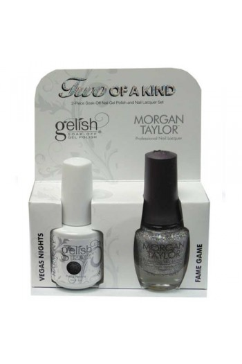 Nail Harmony Gelish & Morgan Taylor Nail Lacquer - Two Of A Kind Core Duo - Vegas Nights & Fame Game