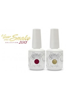 Nail Harmony Gelish - Year of the Snake Collection 2013 - Lady in Red / Meet the King - 0.5oz / 15ml each