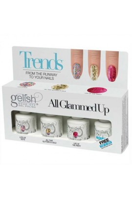 Nail Harmony Gelish - Trends - All Glammed Up - 4pc Kit