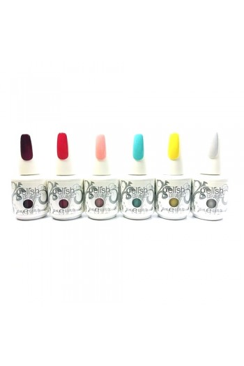 Nail Harmony Gelish - Beauty & the Beast Spring 2017 Collection - ALL 6 Colors - 15ml / 0.5oz Each