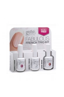 Nail Harmony Gelish - Fabulous French Trio - 0.5oz / 15ml each