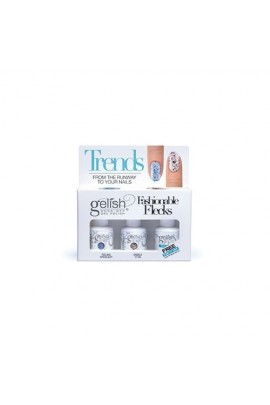 Nail Harmony Gelish - Trends - Fashionable Flecks - 3pc Kit