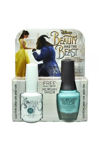 Nail Harmony Gelish & Morgan Taylor - Two of a Kind - Beauty & the Beast Spring 2017 Collection - Gaston and On and On