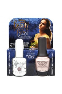 Nail Harmony Gelish & Morgan Taylor - Two of a Kind - Beauty & the Beast Spring 2017 Collection - Plumette with Excitement