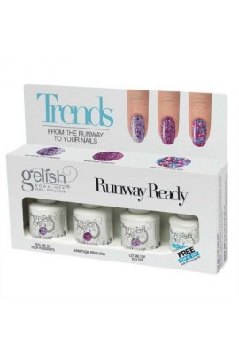 Nail Harmony Gelish - Trends - Runway Ready - 4pc Kit