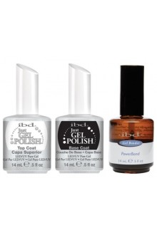 ibd Just Gel Polish - Base Coat, Top Coat, Powerbond - 0.5oz / 15ml