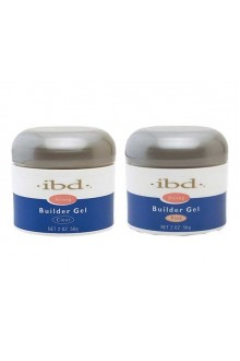 ibd UV Builder Gel - Clear & Pink - 2oz / 56g Each - Duo Pack