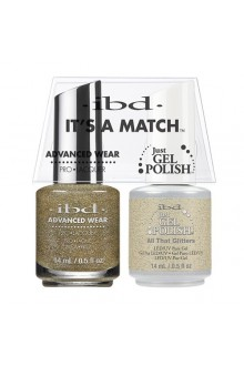 "ibd Advanced Wear - ""It's A Match"" Duo Pack - All That Glitters - 14ml / 0.5oz Each"
