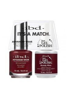 "ibd Advanced Wear - ""It's A Match"" Duo Pack - Brandy Wine - 14ml / 0.5oz Each"