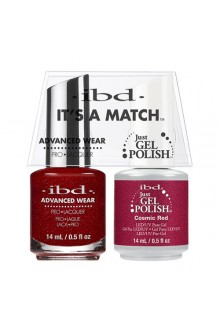 "ibd Advanced Wear - ""It's A Match"" Duo Pack - Cosmic Red - 14ml / 0.5oz Each"