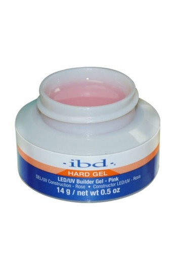 ibd Hard Gel - LED/UV Builder Gel - Pink - 0.5oz / 14g