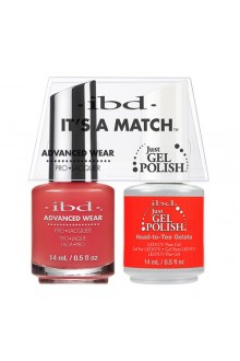 "ibd Advanced Wear - ""It's A Match"" Duo Pack - Head to Toe Gelato - 14ml / 0.5oz Each"