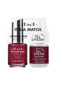 "ibd Advanced Wear - ""It's A Match"" Duo Pack - Maui Sunset - 14ml / 0.5oz Each"