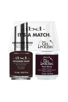 "ibd Advanced Wear - ""It's A Match"" Duo Pack - Plum Raven - 14ml / 0.5oz Each"