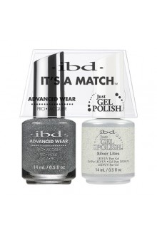 "ibd Advanced Wear - ""It's A Match"" Duo Pack - Silver Lites - 14ml / 0.5oz Each"