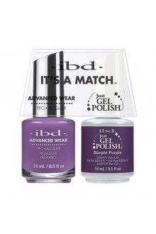 "ibd Advanced Wear - ""It's A Match"" Duo Pack - Slurple Purple - 14ml / 0.5oz Each"
