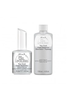 ibd Just Gel Polish - Top Coat + Refill Bottle - 0.5oz & 4oz