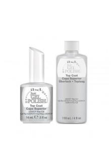 ibd Just Gel Polish - Top Coat + Refill Bottle - 0.5oz & 4oz