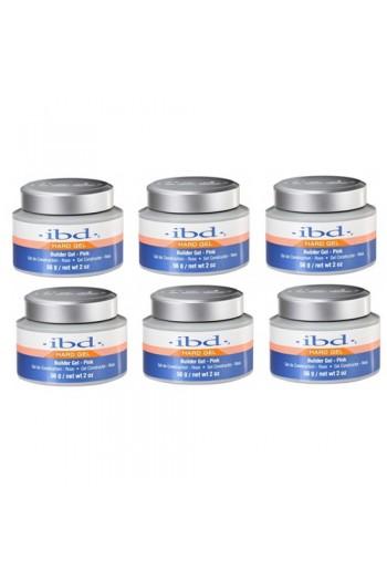 ibd UV Builder Gel - Pink - 2oz / 56g - 6pack