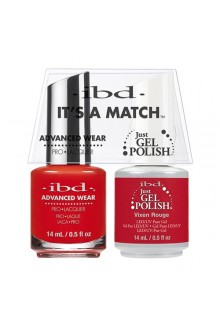 "ibd Advanced Wear - ""It's A Match"" Duo Pack - Vixen Rouge - 14ml / 0.5oz Each"