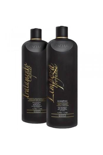 Inoar - Brazillian Keratin Shampoo & Moroccan Hair Treatment Kit - 1L / 33.8oz each