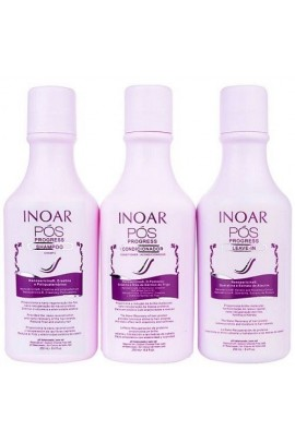 Inoar - POS Progress Kit - Shampoo/Conditioner/Leave-In - 8.4oz / 250ml each
