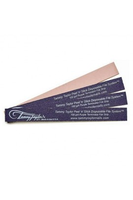 Tammy Taylor - Peel N Stick Nail Files - 100 Grit Purple Terminator File Strip - 10pk