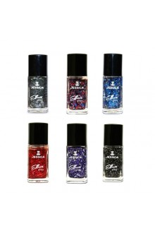 Jessica Effects Glitzy Glitter Nail Polish - 6 Colors Collection