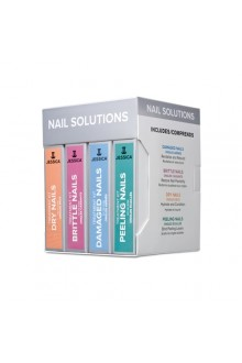 Jessica Nail Solution Treatment Kits - Damaged, Peeling, Brittle & Dry Nails