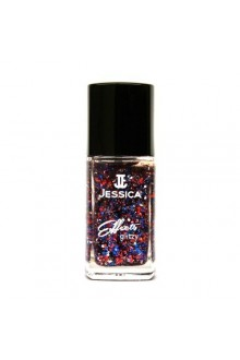 Jessica Effects Glitzy Glitter Nail Polish - Star Spangles - 0.4oz / 12ml