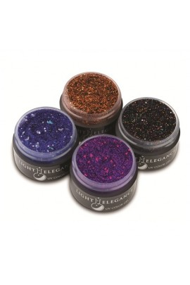 Light Elegance Glitter Gel - 2014 Halloween Collection - 0.5oz / 15ml each (4 Pack)