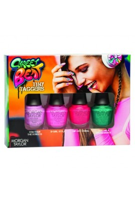 Morgan Taylor Nail Laquer - Street Beat Collection - Tiny Taggers Mini Set - 5ml / 0.17oz Each